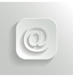 Mail icon - white app button vector image vector image