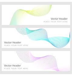 Set abstract background vector image