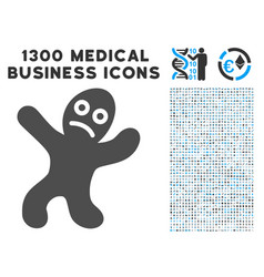 sick person icon with 1300 medical business icons vector image