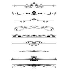 Vintage monograms and borders vector
