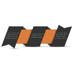Black origami paper banner vector image vector image