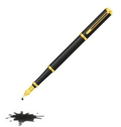 ink pen 03 vector image vector image