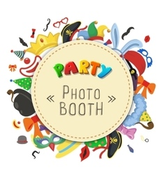 Party Birthday photo booth props Hat and mask vector image