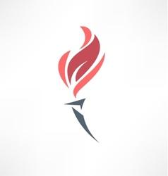 Torch icon Logo design vector image