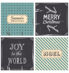 Vintage Style Christmas Greeting Cards Collection vector image vector image