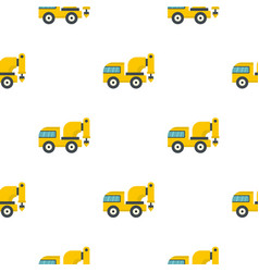 yellow drilling machine pattern flat vector image