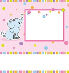 Card elephant vector image vector image