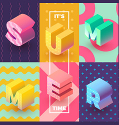 its summer time isometric sign vector image vector image