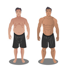men before and after vector image vector image