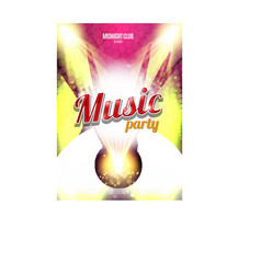 Music Party Poster Background Template - vector image vector image