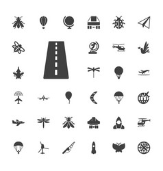 33 fly icons vector