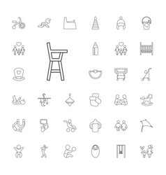 33 kid icons vector