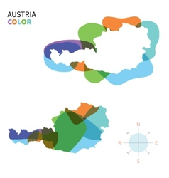 abstract color map austria vector image