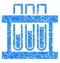 analysis test-tubes grunge icon vector image