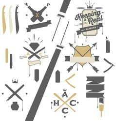 Artcrime-design elements vector