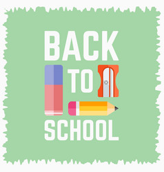 back to school flat poster vector image