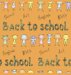 back to school - pen sketch seamless background vector image vector image