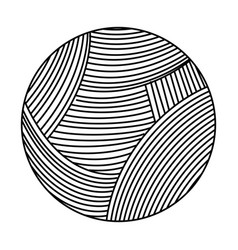 Ball of wool icon vector