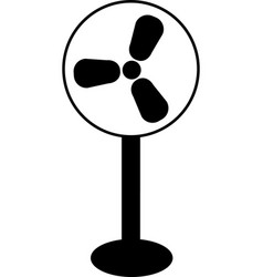 black fan icon on white background vector image