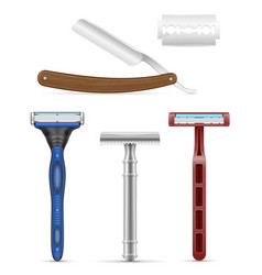 Blade and razor for shaving stock vector