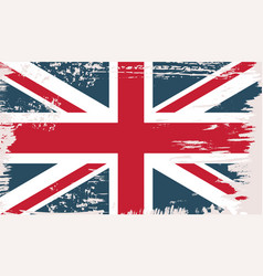 british flag in grunge vintage style vector image