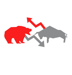 bullish and bearish symbols bullish and bearish vector image