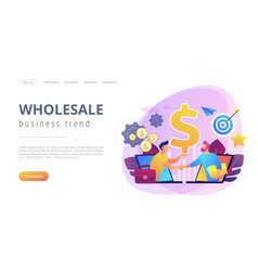 business-to-business sales concept landing page vector image