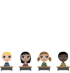 Cartoon children in school board vector