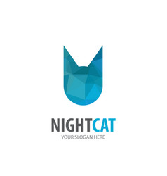 cat logo for business company simple cat logotype vector image