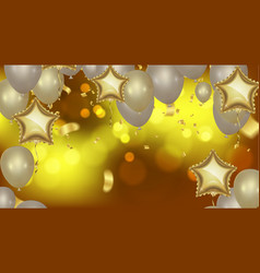 celebration party background with balloons and vector image