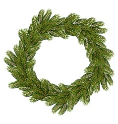 Christmas wreath Traditional wreath from branch of vector image