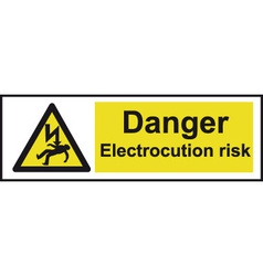 Danger Electrocution Risk Safety Sign vector image