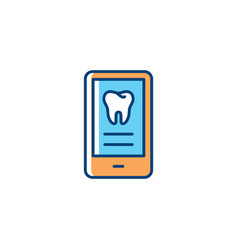 Dental services icon for mobile application vector