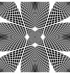 Design monochrome grid geometric background vector