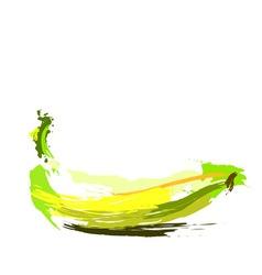 Drawing banana vector image