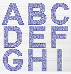 Drawing letter a-i vector