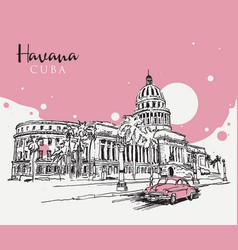 drawing sketch havana vector image