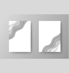 elegant brochures templates vector image