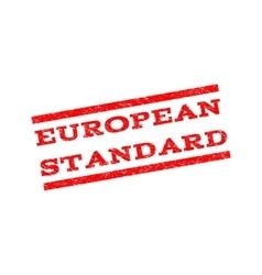 European Standard Watermark Stamp vector image