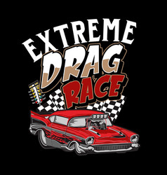 extreme drag race vector image