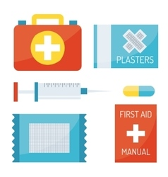First aid symbols vector image