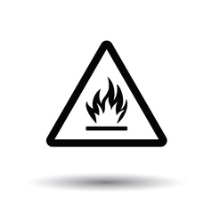 Flammable icon vector image