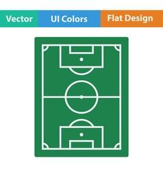 Flat design icon of football field vector