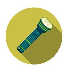 flat design modern of flashlight icon camping vector image