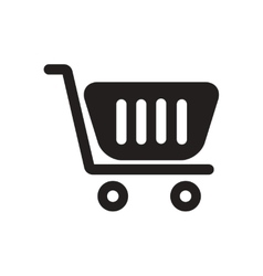 Flat icon in black and white trolley vector