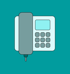 Flat icon on background office phone vector