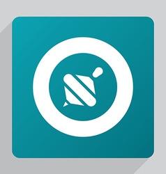 Flat whirligig icon vector