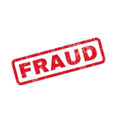 Fraud Text Rubber Stamp vector image