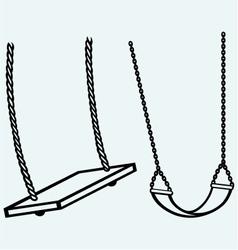 Garden swing hanging vector image