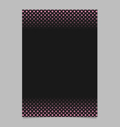 geometric halftone pattern poster template vector image